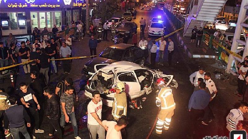 گزارش تصویری از تصادف مرگبار در اتوبان رسالت