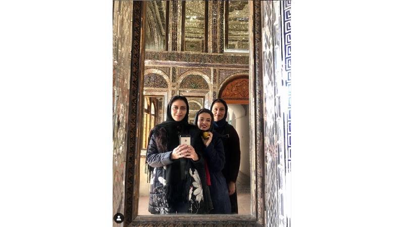 3 بانوی سلبریتی در سفر شیراز؛ شبنم مقدمی، گلاره عباسی و مونا فرجاد