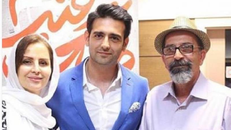 عکسی از امیرحسین آرمان بازیگر نقش کاوه در سریال مانکن در کنار پدر و مادرش