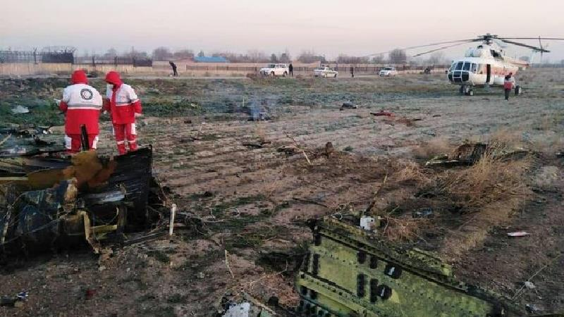 هواپیمای اوکراینی با 170 مسافر در شهریار سقوط کرد