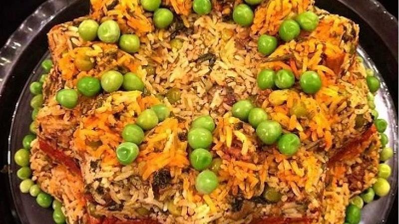 دستور پخت کامل نخود پلو با گوشت و نخود فرنگی