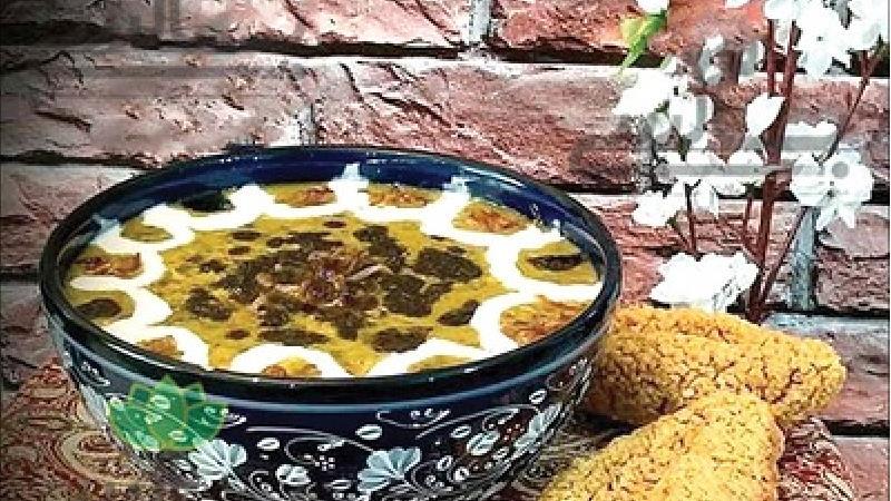 طرز تهیه آش ترخینه با سیرابی