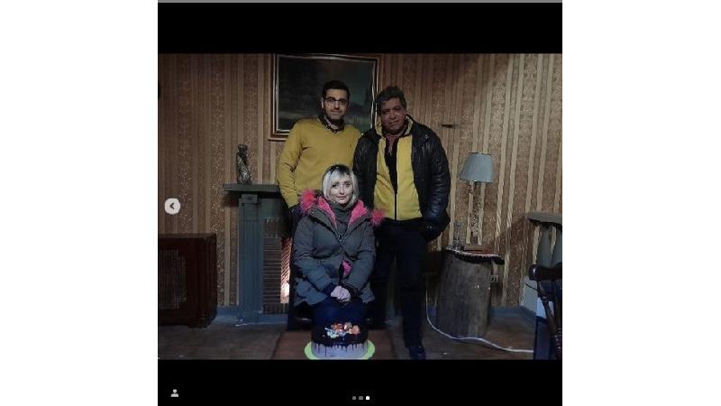 عکس هایی از جشن تولد جواد جوادی جدید در پشت صحنه سریال بچه مهندس ۴