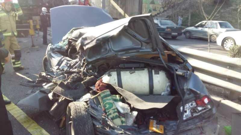 عکس هایی از یک تصادف وحشتناک و مرگبار در تهران