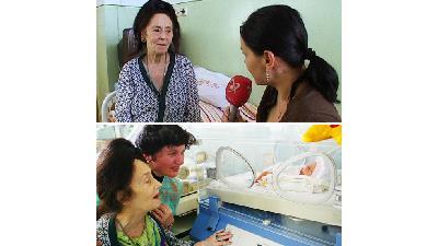 زنی با اولین زایمان در 66 سالگی