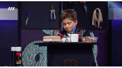 فیلم خراطی احسان محمودی 8 ساله در برنامه اعجوبه ها