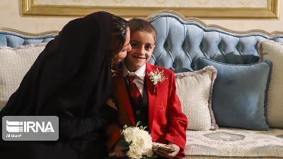 جشن دامادی پسر 7 ساله اهوازی؛ کودک سرطانی به آرزویش رسید
