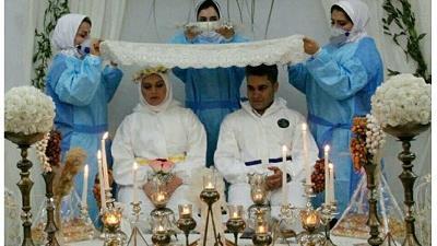 ازدواج متفاوت عروس و داماد پرستار در اهواز
