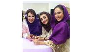 عکس خانم بازیگر در کنار دختر و عروس