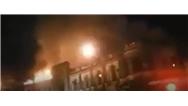 آتش سوزی گسترده در میدان حسن آباد