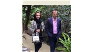 عکسی از شبنم قلی خانی همراه همسرش