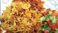 آشپزی ایرانی/ دستور پخت کامل کلم پلو