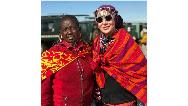 تیپ خاص آرام جعفری در سفر به آفریقا