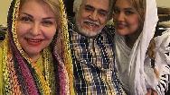 عکسی از اکرم محمدی ،خانم بزرگ سریال ستایش با همسر و فرزندش