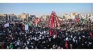 فیلم حضور مردم کرمان در مراسم تشییع شهید سردار سلیمانی