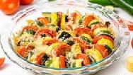 طرز تهیه خوراک سبزیجات رژیمی در فر