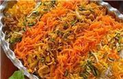 طرز پخت هویج پلوی دو نفره با گوشت و مرغ