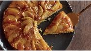فیلم آموزش پخت کیک کاراملی سیب با فر و بدون فر