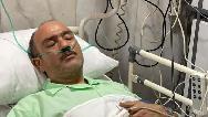 مهران غفوریان روی تخت بیمارستان